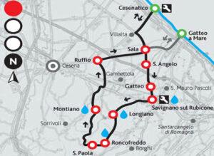 Visit Cesenatico-Cesenatico bike-Cesenatico-Montiano-cartina