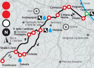 Visit Cesenatico-Cesenatico bike-Cesenatico-Rocca delle Caminate-cartina